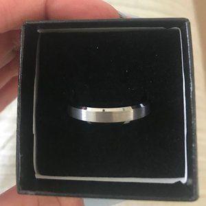 Men's Tungsten Wedding Band Size 9 3/4 and 10